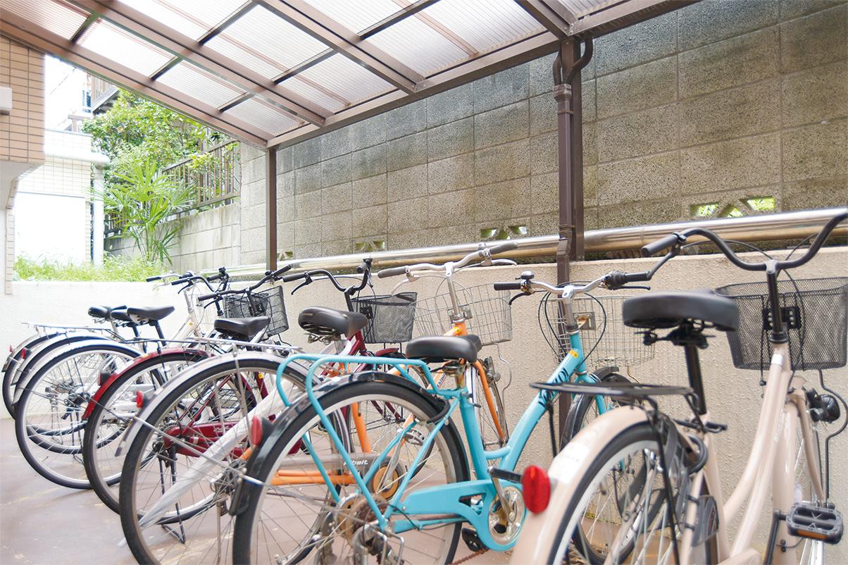 屋内自転車置き場