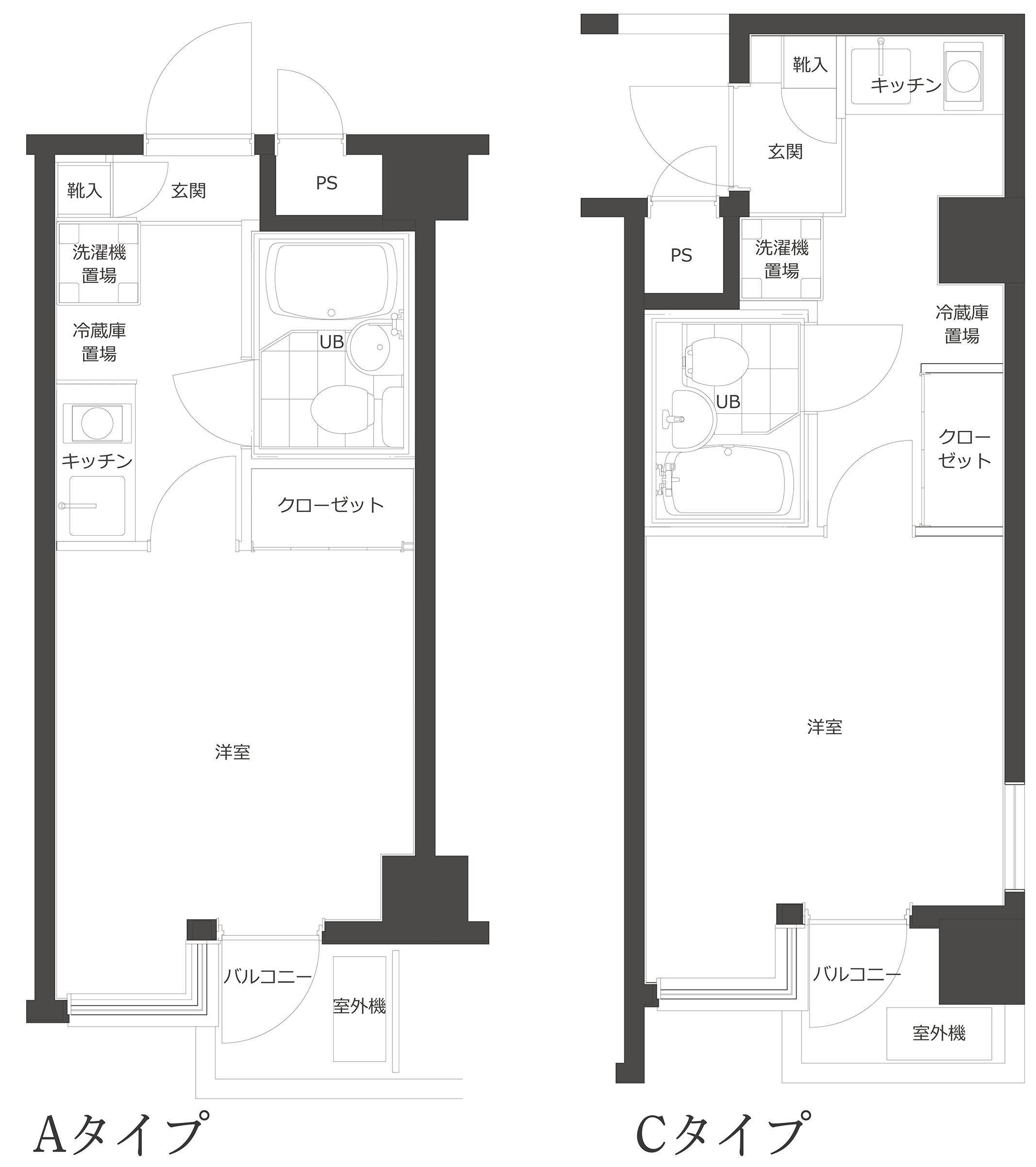 個室平面図